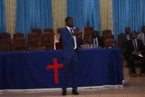 Mr Paul Marigi Addressing the congregation